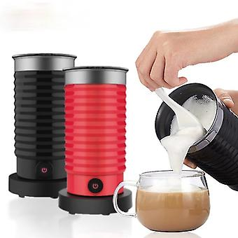 Red milk frother frothing foamer automatic milk warmer for cold hot latte cappuccino chocolate fa0536
