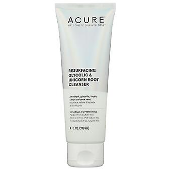 Acure Resurfacing Glycolic & Unicorn Root Cleanser, 4 Oz