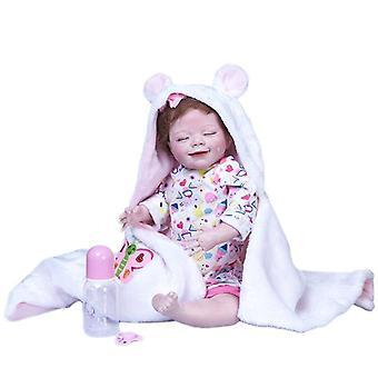 55Cm újjászületett újszülött alszik április takaró teljes test szilikon puha valódi érintés gyűjthető kiváló minőségű művészeti baba