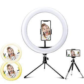 Led Selfie Ring Light med 3 farvetilstande