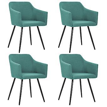 vidaXL Dining chairs 4 pcs. green fabric