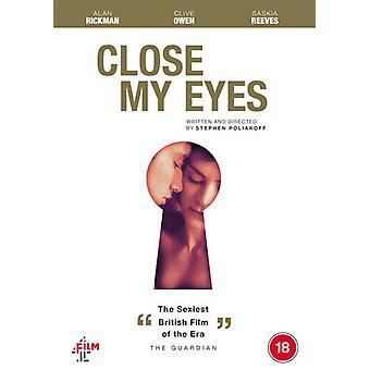 Close My Eyes DVD (2021) Alan Rickman Poliakoff (DIR) Zertifikat 18 NEUE Region 2