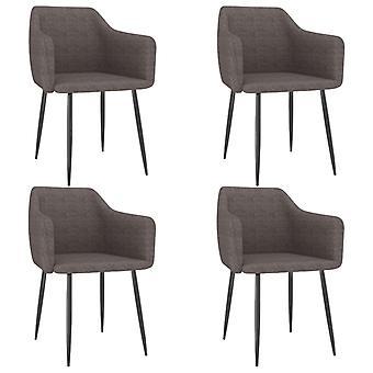 vidaXL dining chairs 4 pcs. Taupe fabric