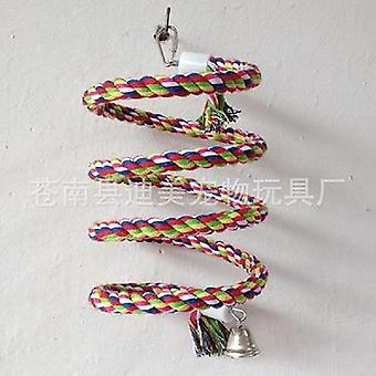 Vogelkooi decoratie klimmen touw bell