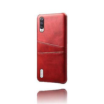 Funda de doble bolsillo de cuero Shell para Xiaomi Mi 8 SE - Rojo