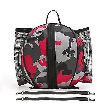 Sportausrüstung Tasche für Basketball Fußball Volleyball Outdoor Schule 9l (Rot)