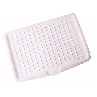 2PC Plastic Large Sink Dish Drainer Vegetable Fruit Drying Rack Washing Holder Tray For Kitchen