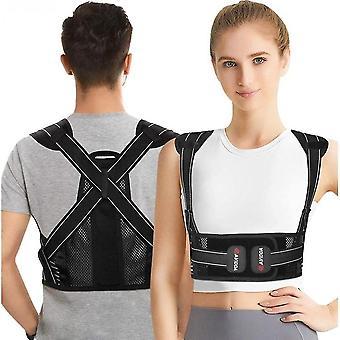 Posture Corrector For Men And Women - Adjustable Upper Back Brace For Clavicle(L)
