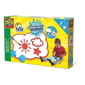 Kinderen mijn eerste kleur met water tekentafel set