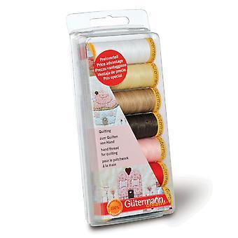 Gutermann 7 Garenset: Hand Quilten - Diverse kleuren