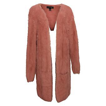 Colleen Lopez Women's Sweater Reg Nylon Cardigan Pink 671569