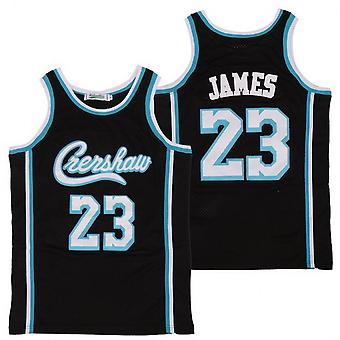 Mens Basketball Jersey Crenshaw Lakers 60 Hussle 24 Bryant 23 James Jerseys Youth Outdoor Sports T-shirt 90s Hip Hop Clothing For Party S-xxl Black Bl