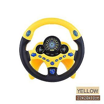 Kinderlenkrad Spielzeug Simulation Kleines Lenkrad Auto Spielzeug (Gelb)