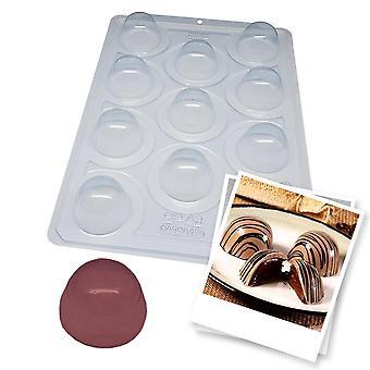 BWB SP 42 Halvprofessionär form 3 delar Tryffel Litet skal 13g choklad