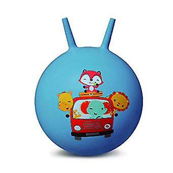 Croissant stuiterende bal baby opblaasbare speelgoedbal (blauw)