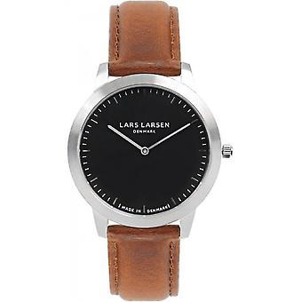 LLarsen (Lars Larsen Brown Genuine Leather) 135SB-BR Men's Watch