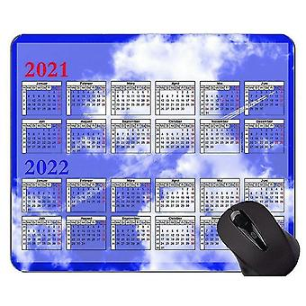 Keyboard mouse wrist rests 300x250x3 2021 calendar golden premium gaming mouse pad custom blue sky and white clouds mouse
