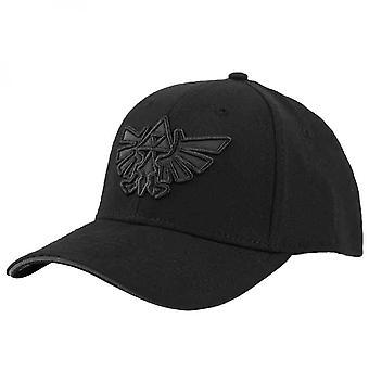 Legend of Zelda Triforce Embroidered Logo Curved Bill Snapback Hat