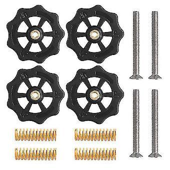 3D printer accessories 4set heatbed spring leveling kit adjustment nut+m4*40 screws diy leveling modules for cr-10 ender 3
