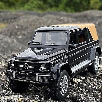 Toy cars 1/32 benz g650 refit pickup truck vehicle toy die casts metal toy car model kids toy black