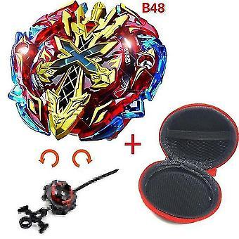 5 + Beyblade burst sparking turbo b48 launcher, metal top gyro blade blade spinning fight toys(B48)