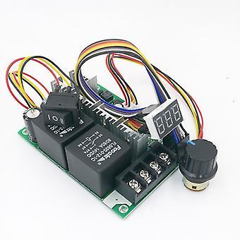 Dc10v〜55vデジタルディスプレイPwmスピードコントローラ前方および逆DCモータ0〜100%調節可能なドライブモジュール入力12v 24v 40a