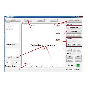 Neje Dk-bl 1500mw Diy Usb Bluetooth מיני מכונת חריטה מתקדמת לייזר