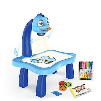 子供用ドローイングボード、ミュージカル玩具、子供用工芸品、ノート、机、ベビー教育玩具(青)