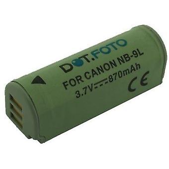 Dot.Foto Canon NB - 9L, NB-9LH wymiany baterii - 3.5 ~ 3, 7V / 870mAh