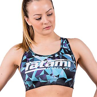 Tatami Fightwear Geometric Sports Bra - Blue/Black