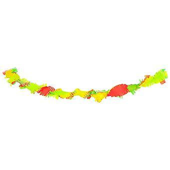 Partito di neon neon 3 colori 6 m di 80 ' s 90 ' s Holi carta crespa della ghirlanda