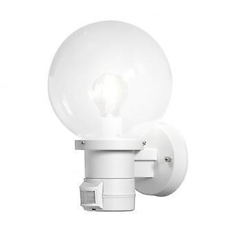 Konstsmide Nemi bílá stěna světlo s snímačem pohybu PIR