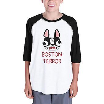 كوم أون الإرهاب جحر الأطفال قميص الرغلا ن معطف البيسبول هالوين