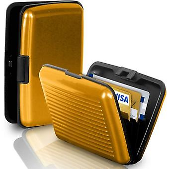 Babz Aluminium Credit Card Business Card Holder To Keep Cards Safe In Gold
