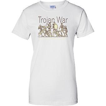 Trojanischen Krieg Schlacht Szene - Troy - Damen T Shirt