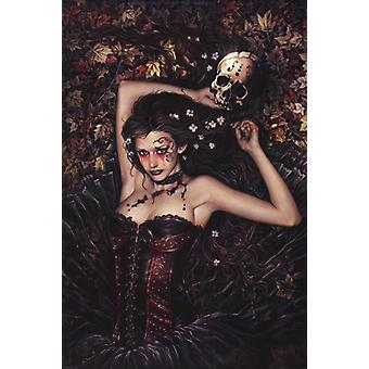 Skull Girl Poster Poster Print by Victoria Frances