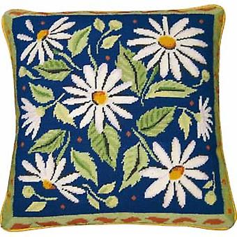 Blue Daisies Needlepoint Kit