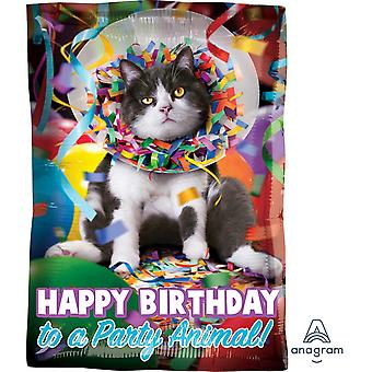 Anagram 18 Inch Party Animal Cat Foil Balloon