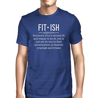 Fit-ish Herre Royal Blue letvægts bomuld motion gave T-Shirt