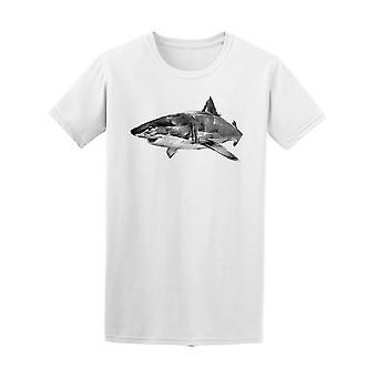 Realistische Shark T-Shirt Herren-Bild von Shutterstock