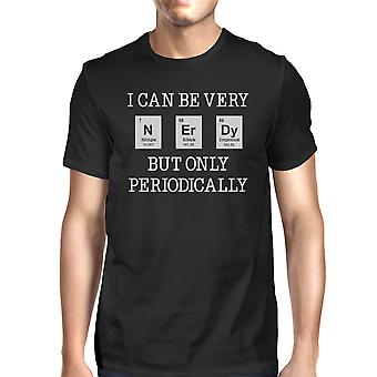 Nerd periodicamente da uomo nero Idea regalo divertente t-shirt di Weird Science