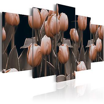 Vászon Print-tulipánok a szépia