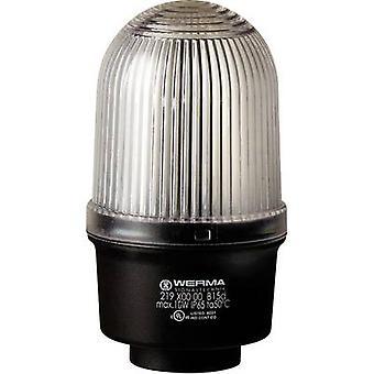 Werma Signaltechnik Light 219.400.00 White Non-stop light signal 12 V AC, 12 V DC, 24 V AC, 24 V DC, 48 V AC, 48 V DC, 110 V AC, 230 V AC