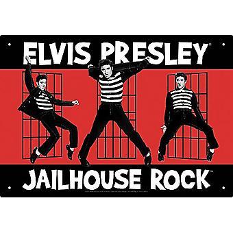Элвис Пресли Jailhouse Rock металлический знак