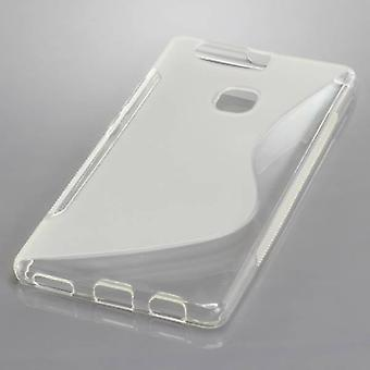 Mobile Shell S-line TPU protection case bumper shell for Huawei P9 plus Tranpsarent