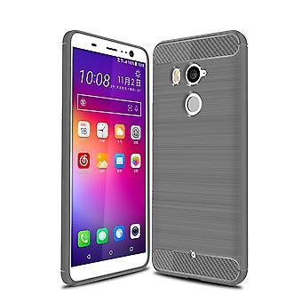 HTC U12 plus coperchio in silicone grigio sguardo caso TPU mobile cover in carbonio di paraurti 211795