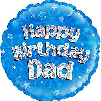 Oaktree 18 Inch Circle Happy Birthday Dad Foil Balloon