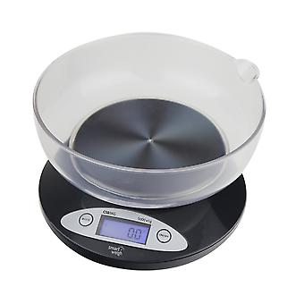 Digital Scale with Removable Bowl 11lbs / 5000g X 1g - Black