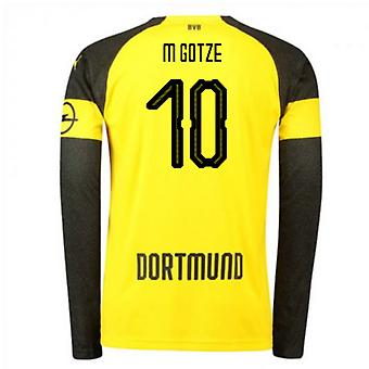 2018-2019 Borussia Dortmund Home Long Sleeve Puma Shirt (M Gotze 10) - Kids