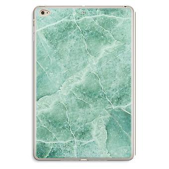 iPad Mini 4 przezroczyste przypadku (Soft) - zielony marmur